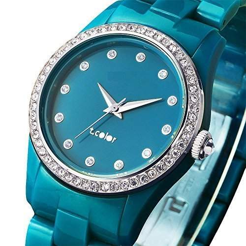 AIBI AIBI Ladies women Quartz Watch with Blue Dial Analogue Display and Blue Plastic