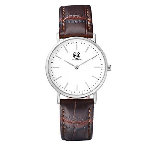 AIBI Damen Armbanduhr XS Classic Analog Quarz Leder AB02501 5