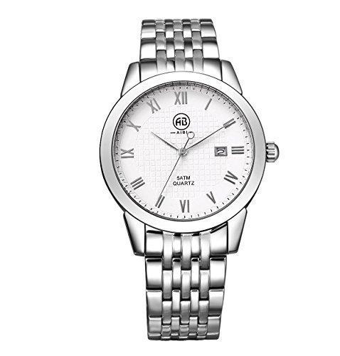 AIBI Herren Edelstahl Armbanduhr mit Datum AB00401 3