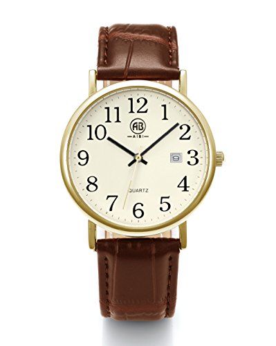 AIBI Unisex Armbanduhr Mit Lederarmband Trend AB45601 3