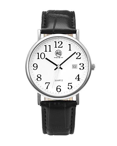 AIBI Unisex Armbanduhr Mit Lederarmband AB45601 1