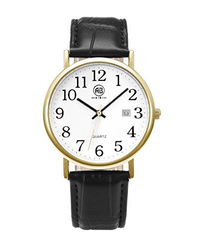 AIBI Unisex Armbanduhr Mit Lederarmband AB45601 4