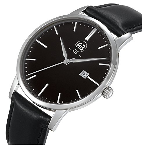 AIBI Wasserdicht Herren Armbanduhr Classic Quarzuhr elegant Uhr modisch Zeitloses Design klassisch Leder AB51101 2