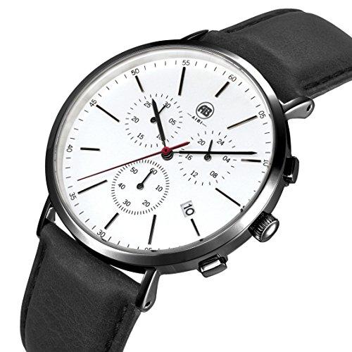 AIBI Wasserdicht Herren Chronograph Analog Quarz Uhr mit Datum und Stoppuhr