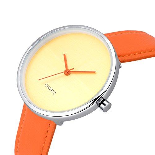 AIBI Wasserdicht Damen Armbanduhr Analog Quarz Lederband AB45901 2