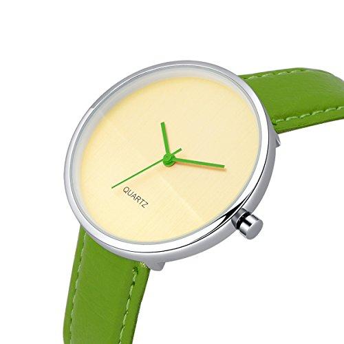 AIBI Wasserdicht Damen Armbanduhr Analog Quarz Lederband AB45901 4