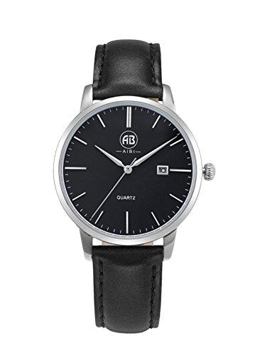 AIBI Wasserdicht Damen Armbanduhr Classic Quarzuhr Leder AB51002 2