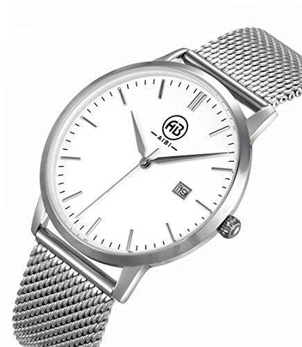 AIBI Wasserdicht Herren Armbanduhr Analog Quarz Edelstahl AB51103 1