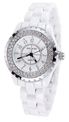 AIBI Damen-Armbanduhr Analog Quarz Plastik Weiss