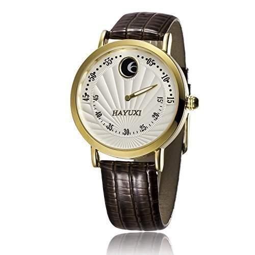 Fafada Herren Quarz Uhr Armbanduhr Herrenuhr Einzeigeruhr Leder Armband Watch
