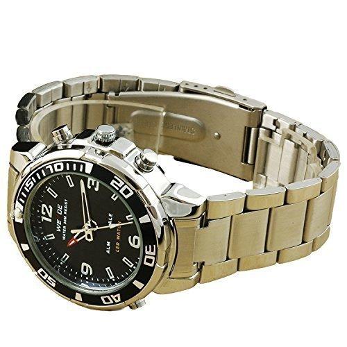 Fafada Quarz Kunststoffgehaeuse Silikonarmband Mineralglas LED Uhr Analog Digital Dual Rot LED uhr Mode Uhren