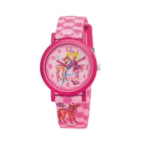 Prinzessin Lillifee Maedchen-Armbanduhr Analog Quarz Textil 454339