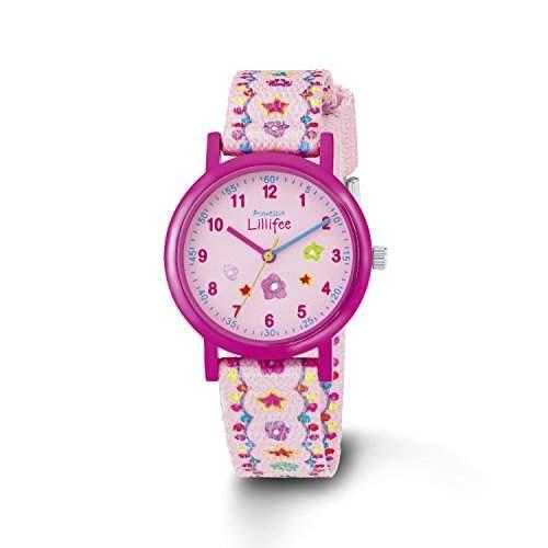 Prinzessin Lillifee Maedchen-Armbanduhr Analog Quarz Textil PLFU11