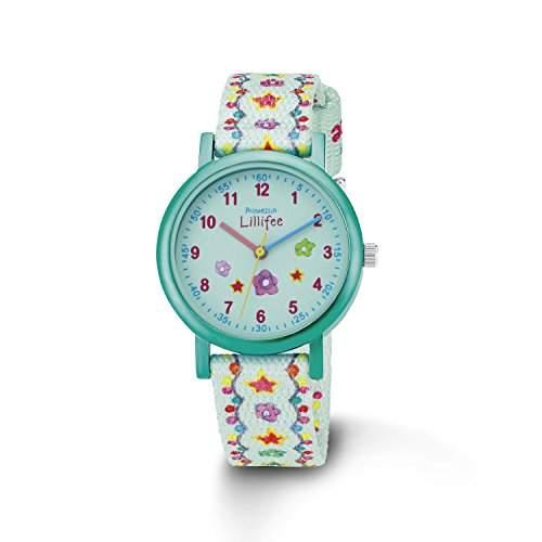 Prinzessin Lillifee Maedchen-Armbanduhr Analog Quarz Textil PLFU12