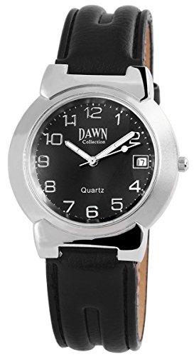 Dawn Analog Leder 38 mm Schwarz 200321000055
