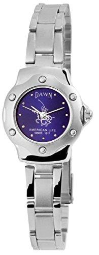 Dawn mit Edelstahlarmband Armbanduhr Uhr Blau 100423000281