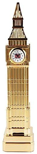 Dawn Miniaturuhr Tischuhr Standuhr mit Quarzwerk und Motiv Big Ben London England Turm 300402000100 Goldfarbiges Gehaeuse 21 cm 3 cm