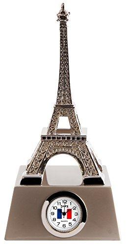 Miniaturuhr Miniatur Uhr Eiffelturm Paris Sammleruhr in der Hoehe 13 cm
