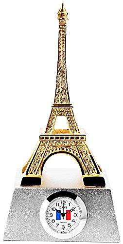 Miniaturuhr Miniatur Uhr Eiffelturm Paris Sammleruhr in der Hoehe 13 cm in bicolor