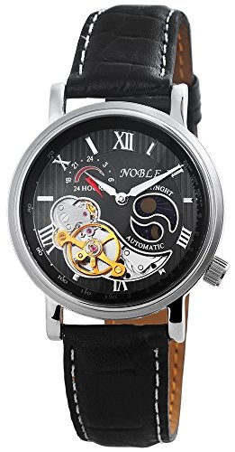 Noble Automatikuhr Echtlederarmband Uhr Armbanduhr 200921000011