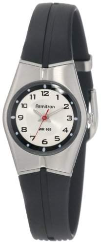 Armitron Sport Unisex 25-6355SIL Black and Silver-Tone Easy to Read Armbanduhr