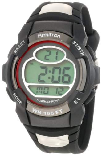Armitron Sport Herren 408089RED Chronograph Round black and Red Digital Armbanduhr