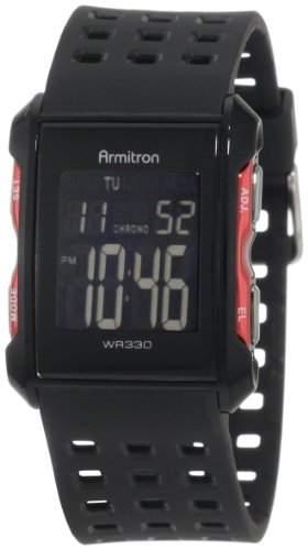 Armitron Sport Herren 408177RED Chronograph Black and Red Digital Armbanduhr