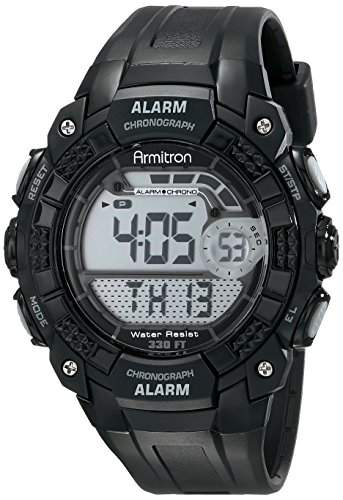 Armitron Sport Herren 408209BLK Digital Armbanduhr