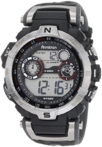 Armitron 408231RDGY Black Chronograph Herrenuhr