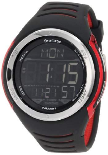 Armitron Sport Herren 408250RED Sport Armbanduhr with Black Band