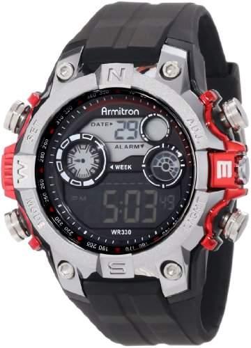 ARMITRON 408251RED Digital Sport Uhr Multifunktion Alarm Stopp