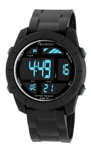 Armitron Sport Herren 408253BLK Digital Armbanduhr