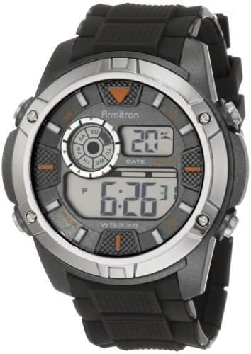 Armitron Sport Herren 408257GRY Chronograph Grey Resin Digital Armbanduhr