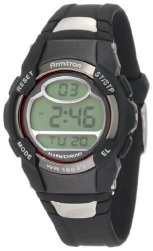 Armitron Sport Unisex 456975RED Chronograph Black Digital Armbanduhr