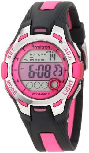 Armitron Sport Damen 457030PNK Pink and Black Digital Armbanduhr