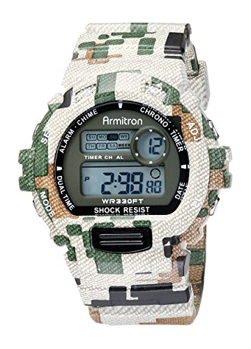 Armitron Sport Mens 40 8216MIL Digital Chronograph Watch With Camouflage Resin Band