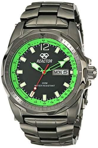 REACTOR Herren 49509Fission Analog Display Analog Quartz Black Watch