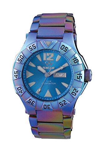 REACTOR 53999 Herren ionisierte Mehrfarbig Armband Band Blau Zifferblatt watchreactor