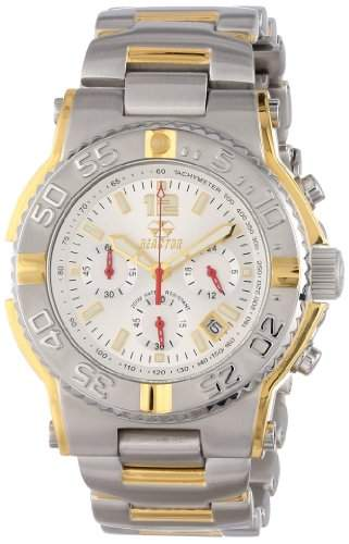 REACTOR Herren 75102 Critical Mass Chronograph White Dial Two-Tone Uhr