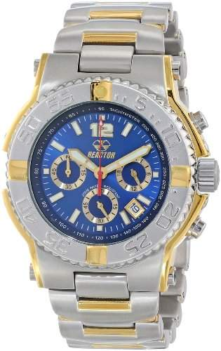 REACTOR Herren 75103 Critical Mass Chronograph Blue Dial Two-Tone Uhr