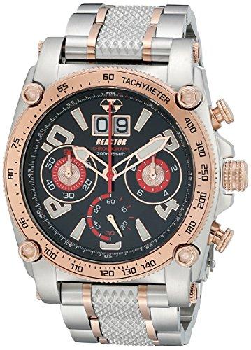 REACTOR Herren 41601 Analog Display Japanisches Quarz Zweifarbige Armbanduhr