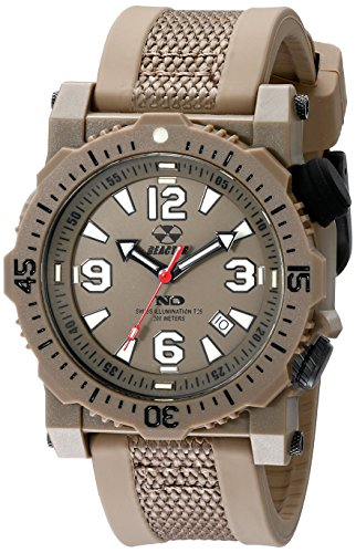 REACTOR Herren 43821 Titan Analog Display Japanisches Quarz braun Armbanduhr