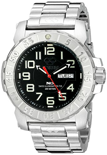 REACTOR Herren 50001 Trident 2 analoge Armbanduhr Display silber Quarz