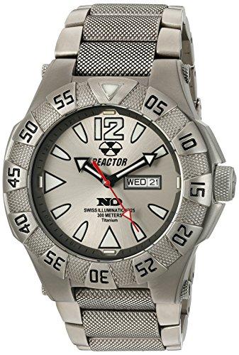 REACTOR 52002 Miniatur Unisex Gamma Tag Datum Titan Armband grau Band Grau Zifferblatt Armbanduhr