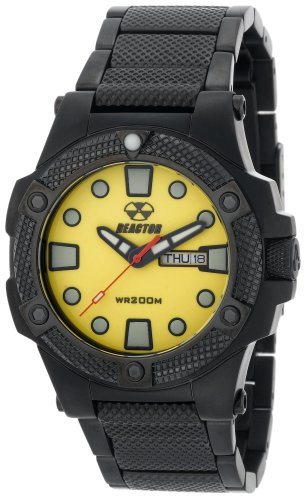 REACTOR Herren 72507 Meltdown Yellow Dial Schwarz Nitrid beschichtet Uhr