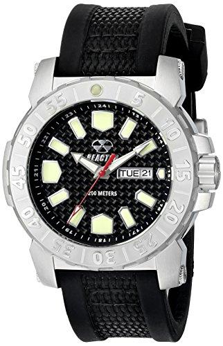REACTOR Herren 76801 Meltdown 2 analoge Display Japanisches Quartz Black Watch