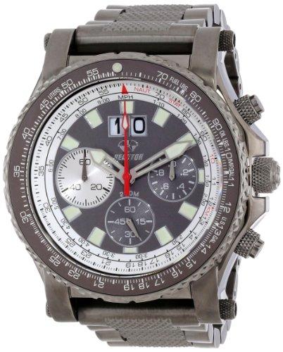 Reactor 81510 Grau Armband Band Grau Zifferblatt Valkyre Chronograph Super Luminova Beleuchtung Uhr