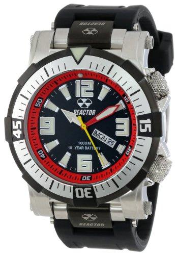 Reactor B00469S MFQ Poseidon Ti Maenner Strainless Stahl Schwarz Armband Band Black Dial Watch