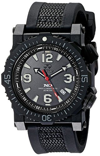 REACTOR Herren 43801 Titan Analog Display Japanisches Quartz Black Watch
