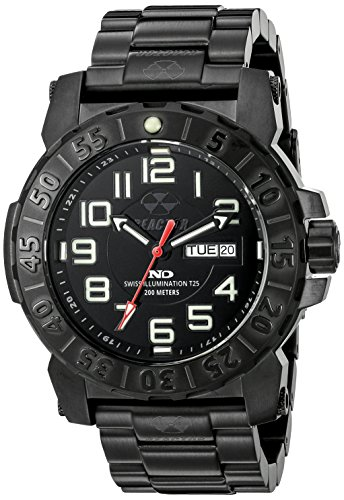REACTOR Herren 50501 Trident 2 analoge Display Quartz Black Watch